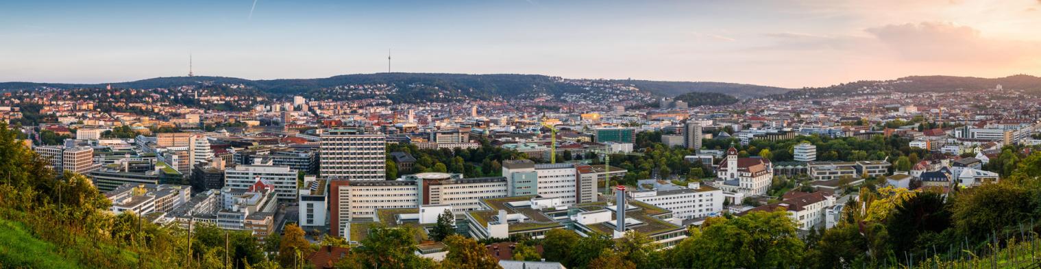 Stuttgart Talkessel mit Fernsehturm und Frauenkopf